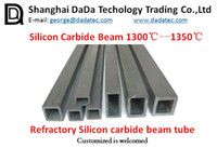 Wholesale Refractory Silicon carbide square tube refractory kiln furniture supplier China Silicon carbide tube refractory kiln furniture supplier