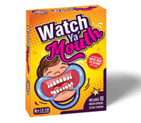 Wholesale Watch Ya Mouth Mouth Guard Party Game Novelty Gag Toys Practical Jokes SPEAK OUT Board Game KKA1016
