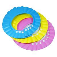 Wholesale Hot adjustable soft baby shampoo shower cap bathing hat wash hair shield baby care bath protection for kid