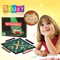 adult scrabble game - Scrabble Board Game Learn English Crossword Spelling Game Adult Puzzle Family Board Game Children Educational Toys For Kids