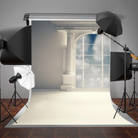 achat en gros de toile de fond de mariage moderne-SUSU Digital Printing Photography Backdrops White Modern House Fond de mariage White Cloud Photo Studio 5x7ft Wrinkles Free