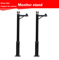 Wholesale Factory direct monitoring stand pole m m black hot galvanized spray can be customized black monitor light pole