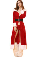Wholesale Christmas clothing sexy lingerie Christmas long long sleeved Adult Sexy Christmas clothing Cosplay long section of Christmas clothing