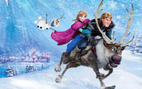 animation pictures animals - Frozen d Animation Film character Anna and Christopher The snow fell Cartoon wall Pictures Home decoration Print On Canvas