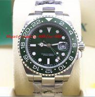 Precio de Cerámica blanca reloj de pulsera-Relojes de lujo de alta calidad II 18K blanco GOLD GREEN DIAL CERÁMICA BEZEL - 116718 G Reloj Automático Hombre Reloj de los hombres