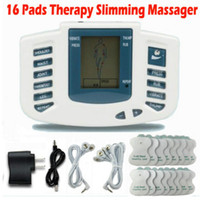 ABS acupuncture care - Electrical Stimulator Full Body Relax Muscle Therapy Massager Massage Pulse tens Acupuncture Health Care Slimming Machine Pads