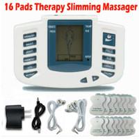 al por mayor asistencia sanitaria completa-Estimulador Eléctrico Completo Body Relax Terapia Muscular Massager Masaje Pulse decenas Acupuntura Health Care Slimming Machine 16 Pads