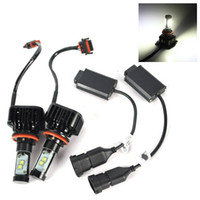 Wholesale 2pcs Innovited H11 H9 H8 LM W LED Headlight Fan cooling Led Beam Replacement Conversion Kit Low Beam Bulbs