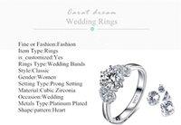 Wholesale MDEAN fashion classic zircon ring high grade platinum plated aristocratic jewelry MSR072