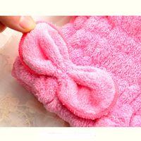 Wholesale Comfortable Textile Useful Dry Microfiber Turban Quick Hair Hats Wrap Towels Bathing Cap Shower Cap