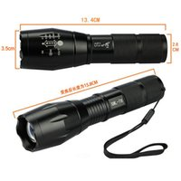 Wholesale Durable Cree XML T6 Lumens High Power LED Torches Zoomable Tactical LED Flashlights torch light for xAAA or x18650 battery
