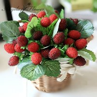 artificial strawberries - fruit decoration flower artificial fruit paddle strawberry photo props Artificial plant
