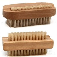 Wholesale Natural Boar Bristle Brush Wooden Nail Brush or Foot Clean Brush Body Massage Scrubber