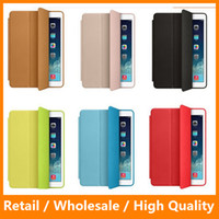 Wholesale iPad Air Mini Leather Cover Case Stand Flip Protector for iPad Cover Ultra Thin With Wake up Sleep Function
