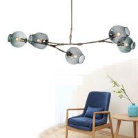 Wholesale Vintage Loft Industrial Pendant Lights Black Gold Bar Stair Dining Room Glass Shade Retro Lindsey adelman Pendant Lamp Fixtures