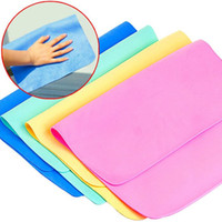 Kitchen auto cleaning cloth - New Multi functional deerskin wiping towel Cleaning Cloths Home Household Clean Towel Auto Car Window Wash Tools JF