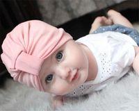 beanie babies heads - New Baby Girls Hat Bunny Ear Knot Caps Bohemia Turban Knot Cross Head Wraps Hats Hats Kids Winter Beanie Colors M Y BH22