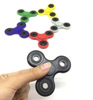 Wholesale NEW CUSTOMS DIRT RESISTANT EDC Tri Spinner Fidget Toy Smooth Surface Finish Ultra Durable Non D printed DHL