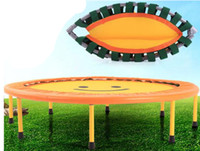 Wholesale 40 INCH folding child trampoline quarter fold jumping bed home indoor body building trampoline household fitness trampoline bed