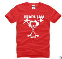 animal rocks - Summer New Cotton Short sleeve T Shirts Rock Music Band Grunge Pearl Jam Sauce T shirts Men Hiphop Tshirts