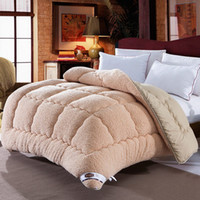 Wholesale New Arrival Warm Winter Quilt Thicken Sleeping Comforter Solid Color Comfortable Patchwork Blanket JQ0046