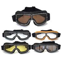 Los anteojos WWII de la motocicleta venden para la lente retra 4 del color de Eyewear 4 del casco del jet de las gafas de la moto del estilo de Harley HZYEYO FJ002