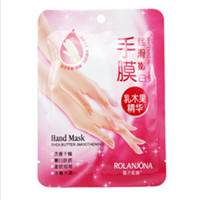 Wholesale PAIRS ROLANJONA Hand SKIN Care Hand Mask Shea Butter Essence Soft Whitening Hand Mask Whiten Chamfer