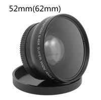 52MM 0.45x Lente Macro Gran Angular Alta Resolución Wide Deluxe Digital Lentes para Nikon Cannon Sony DSLR Cámara de 52mm de diámetro