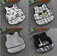 Wholesale Baby Cartoon Bib Feeding Bandana Baby Toddler Easy Wipe apron r Batman feeding Bibs Apron Infants Bib design LJJK654
