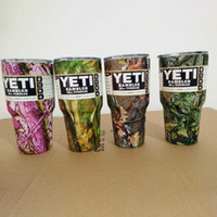 Wholesale Camouflage Camo YETI Pink oz Cups Cooler Colors Stainless Steel Rambler Tumbler Cup Car Vehicle Beer Mugs Vacuum Insulated XL G36