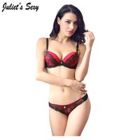 abc printing - Juliet s Sexy Brand Sexy Women Bra Set Push Up ABC Cup Bra and thong set Lace Embroidedry Bra and Panty Set Underwear