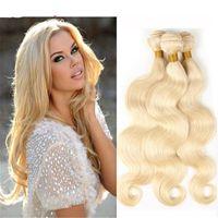 Wholesale 8A TOP brazilian blonde virgin hair body wave brazilian human hair weave bundles