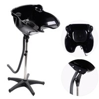 Wholesale Pro Portable Shampoo Basin Height Adjustable Salon Hair Treatment Bowl Black New