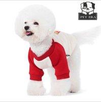 2017 nuevo, suéter de la ropa del perro para los perros pequeños, suéter del estiramiento del algodón del perro del peluche, resorte y verano, fuentes del perro, ropa del perro