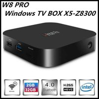 Wholesale W8 Pro Quad Core TV Player Portable PC win10 TV BOX Intel Atom Z8300 G MINI PC