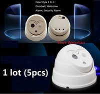 Wholesale 5pcs Infrared In Welcome Alarm Arrival Door Bell Doorbell Security With Kinds Of Tune Sound Owl Style Shape