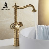 Wholesale Bathroom Accessories Basin Faucets Bronze Finish Basin Mixer Hot and Cold Water Tap WC Bathroom Faucet Kitchen WF