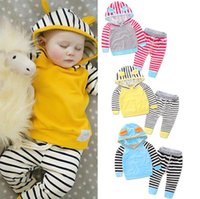 bb sportswear - INS long sleeves trousers baby spring autumn suit kids fashion sportswear CM BB clothes set A45