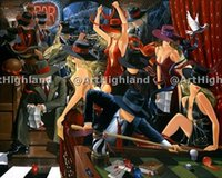 abstract musical art - Art Jazz Musical Bar Party Pure Hand Painted Abstract Pop Art Oil Painting On Canvas any customized size accepted zeng