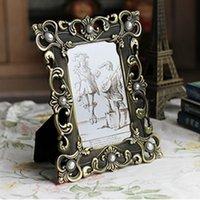 achat en gros de free europe cadres photo-Le cadre fait maison de photo de décoration de maison de cadre de photo de style d'Europe a fait des cadres de photo d'ornements de cru de mode de métal X7346 6