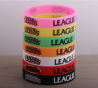 Wholesale LOL League of Legends Wristband Debossed Silicon Rare Glow Bracelet Promotion Gift Friends Gifts