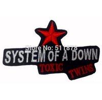 badge systems - 3 quot SYSTEM OF A DOWN Music Band EMBROIDERED IRON On Patch T shirt Transfer APPLIQUE Heavy Metal Rock Punk Badge