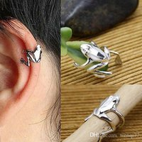 Wholesale Chic Fashion Unisex Punk Personality Gold Silver Tone Frog Cuff Ear Clip Wrap Earring High Quality