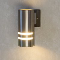 ac cylinder - CE UL Waterproof Cylinder Porch Light Outdoor Wall Lamp Lighting Black Silver Up and Down Wall Sconce Lamp for Garden Corridor Patio Balcony
