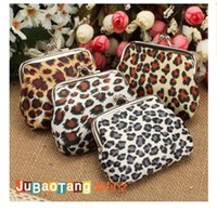 Wholesale Women Girls Leopard Wallets Owl Dot Coin Purses x7CM Small Size Fashion Canvas Money Bag Wallet Christmas Promotion Gift