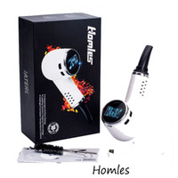 50w baking ceramic - Newest Homles Pipe Dry Herb Vaporizer Mod Isolate Airflow Bake Pen Vape Pipe Temperature Control Ceramic Heating With OLED Screen DHL free