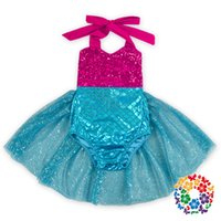 0-6M 6-12M 12-24M baby clothes needed - Baby Girl Sequin Tutu Rompers Summer Mermaid Colors Cute Newborn Toddler Jumpsuits Kids Clothing need Special Made