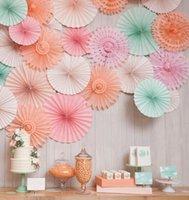 baby craft supplies - Honeycomb Tissue Paper Fan Pinwheels Decorative Flower Paper Crafts Party Wedding Decor Birthday Baby Shower Creative Supplies