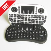 Wholesale 20X Wireless Keyboard mini i8 wireless keyboard Fly Air Mouse Multi Media Remote Control Touchpad Handheld for TV BOX Android Mini PC FP