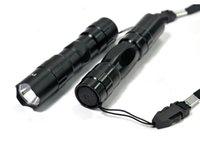 Wholesale Black box packaging mini ultra bright LED energy saving flashlight w flashlight car Energy saving flashlight outdoor